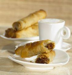 Crispy Fig and Almond Rolls
