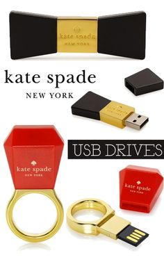 Beautiful & Classic items are always better.. Kate Spade USB Drives!!! Makes college more enjoyable