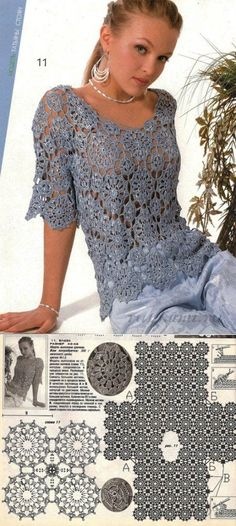 Fabulous Crochet a Little Black Crochet Dress Ideas. Georgeous Crochet a Little Black Crochet Dress Ideas. Gilet Crochet, Crochet Cardigan Pattern, Crochet Tunic, Irish Crochet, Crochet Lace, Black Crochet Dress, Crochet Skirts, Crochet Clothes, Crochet Designs