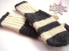 Winter mittens women mittens white mittens warm by RainbowMittens