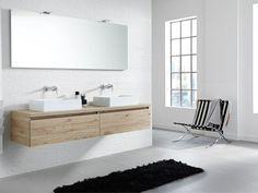 The Exclusive XL is for those who are looking for a contemporary bathroom cabinet and wish to give their bathroom an individual style. Toilet Design, Bathroom Furniture, Wooden Bathroom, Cool Rooms, Double Vanity, Contemporary, Cabinet, Interior, House