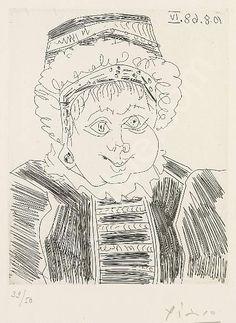 """Pablo Picasso, """"La Servante (des deux Précédents)"""", Séries 347, 1968"""