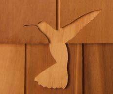 Hummingbird Shingle Carving