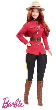 Royal Canadian Mounted Police Barbie.  Also real, sold by the Mounties themselves.