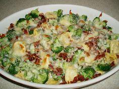 Anne Naturglad: Gratineret tortellini med broccoli og bacon
