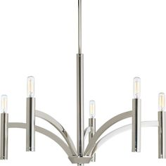 Progress Lighting Draper 5 Light Candle Chandelier