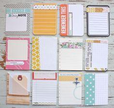 Mish Mash: July Gossamer Blue...handmade journaling cards from Main Kit only