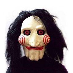 Jigsaw Creepy Scary Halloween Clown Mask Rubber Latex Saw Horror Movie Cosplay Halloween Clown, Halloween 2018, Jigsaw Halloween, Halloween Party Kostüm, Masque Halloween, Halloween Karneval, Halloween Movies, Halloween Gifts, Halloween Costumes