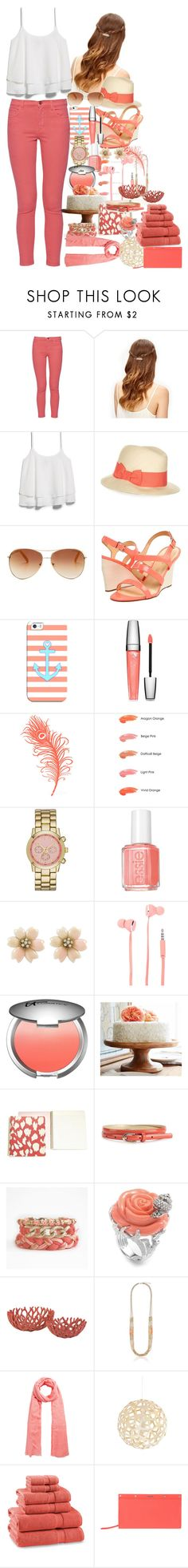 """""""Just Coral!"""" by pancakemafia ❤ liked on Polyvore featuring French Connection, MANGO, Monsoon, Tommy Hilfiger, Kate Spade, Casetify, Lancôme, WALL, Anna Sui and Merona"""