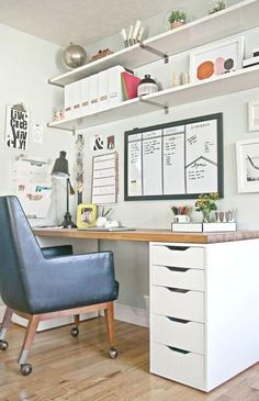 50 Cheap IKEA Home Office Furniture with Design and Decorating Ideas, – Home Office Design İdeas Small Bedroom Office, Ikea Home Office, Home Office Furniture, Ikea Office Storage, Office Desk Designs, Ikea Home, Small Space Office, Diy Office Desk, Office Design