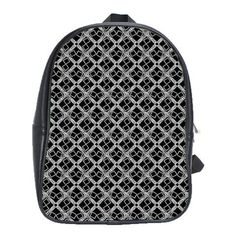 #SugaLane #Black #Silver Micro-Logissimo Student #Backpack #bag