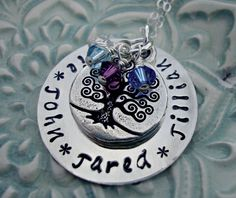 Hand Stamped Necklace Handstamped Necklace by 3LittlePixiesShoppe, $40.00