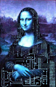 Mona Lisa Overdrive by Spiffre on DeviantArt Monnalisa Kids, Mona Lisa Overdrive, La Madone, Mona Lisa Parody, Mona Lisa Smile, Famous Artwork, American Gothic, Principles Of Art, Collage Illustration
