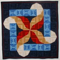 Escaping Ribbons Log Cabin Quilt By Green Mountain Quilt Studio