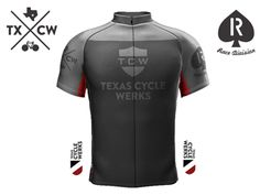 Cycling Jersey Dark Front by David Baker