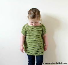 Wool and Stitch: Mini Kids Open Work Top - Free Crochet Pattern