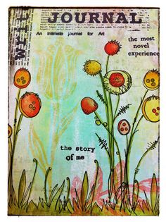 PaperArtsy:Leandra Created this using Stamps from our JOFY Collection as well as stamps from our guest designers Lin Brown and Sara Naumann and Fresco Finish Chalk Acrylic Paints.