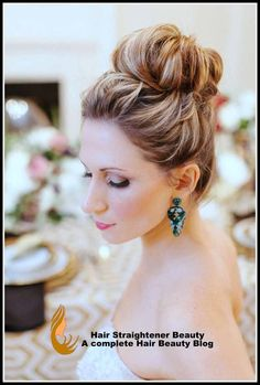 Hairstyle For Women - Sleek High Bun Wedding Hairstyle