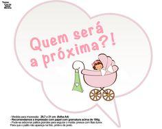 Plaquinhas Divertidas Chá de Bebê Menina 3