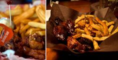 Wings and fries