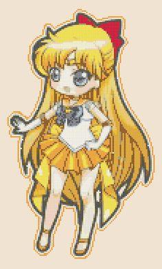 Chibi Sailor Venus - pdf cross stitch pattern istant download - schema a punto croce formato pdf scaricabile