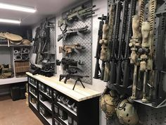 Judds carries everything from survival gear to apparel. When someone asks you where you got your awesome gear? Ammo Storage, Weapon Storage, Storage Room, Hidden Storage, Gun Safe Room, Gun Closet, Tactical Wall, Tactical Gear, Reloading Room
