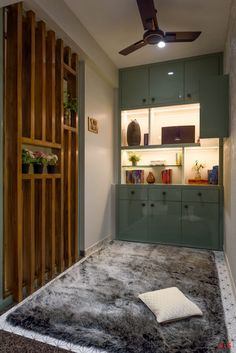 The Home Is Painted in Harmonious Look Keeping Beige Color As A Canvas | ANS Design House - The Architects Diary Partition Design, Beige Color, Apartment Design, Beautiful Homes, House Design, Full House, Cupboards, Architecture, Canvas