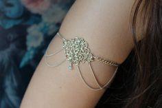 Gypsy Armlet, Gypsy Arm Band, Gypsy Armet, Arm Jewelry via Etsy