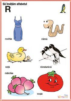 fise imagini reprezentative ale literelor din alfabet | Cu Alex la gradinita Homeschool, Letters, Comics, Logos, Kids, Baby, Crafts, Rome, Embroidery