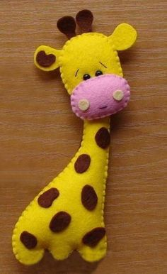 Felt Giraffe by FeltGalore | Sewing Pattern - Looking for your next project? You're going to love Felt Giraffe by designer FeltGalore. - via /Craftsy/