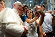 Pope Francis is winning Twitter. The first tweeting Pope upped the ante yesterday by posing for an incredible selfie at the Vatican on Wednesday. See it for yourself: