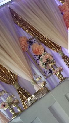 Image gallery – Page 698691329667713526 – Artofit Sweet 16 Decorations, Quince Decorations, Quinceanera Decorations, Gold Wedding Decorations, Backdrop Decorations, Birthday Decorations, Wedding Centerpieces, Gold Backdrop, Wedding Stage