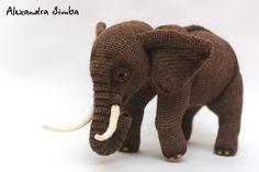 0001 Crochet Pattern - Elephant - Pdf file by Alexandra Simba Etsy Elephant Hat, Crochet Elephant, Elephant Pattern, Elephant Quilt, Monkey Pattern, Crochet Amigurumi, Amigurumi Patterns, Crochet Toys, Crochet Patterns