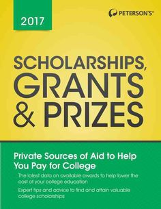 Scholarships, Grants Prizes provides up-to-date information on millions of privately funded awards available to college students. It contains detailed profiles of awards based on academic fields and c