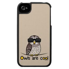 Owls are cool case for the iPhone 4
