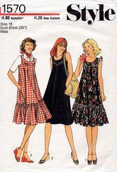 1970s Sun Dress Pattern Style 1570 Vintage by BessieAndMaive