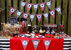 Yohoho!! does pirates really say that? Pirate birthday party dessert table