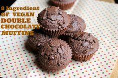8 Ingredient Vegan, Gluten-free Double Chocolate Muffins