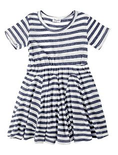 Splendid Girls' French Stripe Short Sleeve Dress