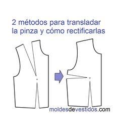 2 métodos para cambiar de lugar las pinzas del talle delantero y cómo re...