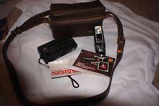 Vintage Kodak Tele Instamatic 608 Camera W/Hard Case & Nissin TF480 Flash
