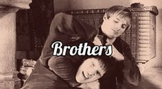 """Brothers, not in blood but in bond. Merlin is very much the """"pain in the butt"""" little brother to Arthur"""