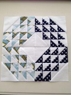 Block 20: Ocean Waves by IT Girl Quilts!, via Flickr