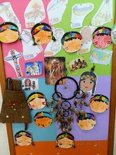 En el aula hemos elaborado un Rincón dedicado a los Indios, con vocabulario propio del Proyecto, con caretas de indios-indias, con atrapa...