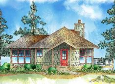 Efficient Mountain Charm - 26616GG | Cottage, Mountain, Vacation, Narrow Lot, 1st Floor Master Suite, CAD Available, PDF | Architectural Designs