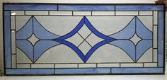 Bevels and Blues Stained Glass Hanging Panel by terrazaglass, $285.00