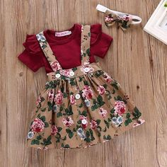 Details about Newborn Infant Baby Girl Outfits Clothes Set Romper TopsFloral Strap Dress - Baby Girl Dress - Ideas of Baby Girl Dress - Newborn Infant Baby Girl Outfits Clothes Set Romper Tops Strap Skirt Dress Frocks For Girls, Dresses Kids Girl, Toddler Girl Outfits, Kids Outfits, Newborn Outfits, Dress Girl, Toddler Girls, Dress Outfits, Baby Girl Skirts