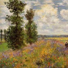 Claude Monet, Campo di papaveri ad Argenteuil (1875)