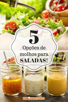 Quer dar um up nas suas deliciosos! Sauce Recipes, Vegan Recipes, Cooking Recipes, Food C, Salad Sauce, Portuguese Recipes, Sauces, Ground Beef Recipes, Food Hacks