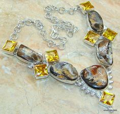 Passion Boulder Opal Sterling Silver necklace  price: $224.55  #Popular  #Jewelry  #Fashion